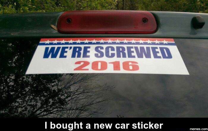 I bought a new car sticker..
