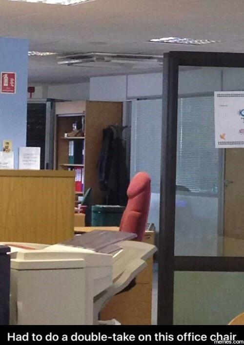 Had to do a double take on this office chair…