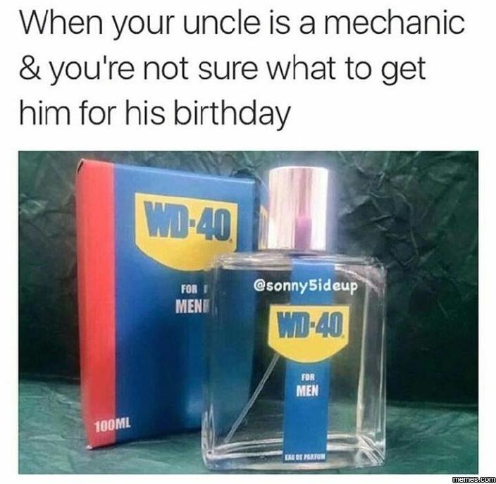 When your uncle is a mechanic…