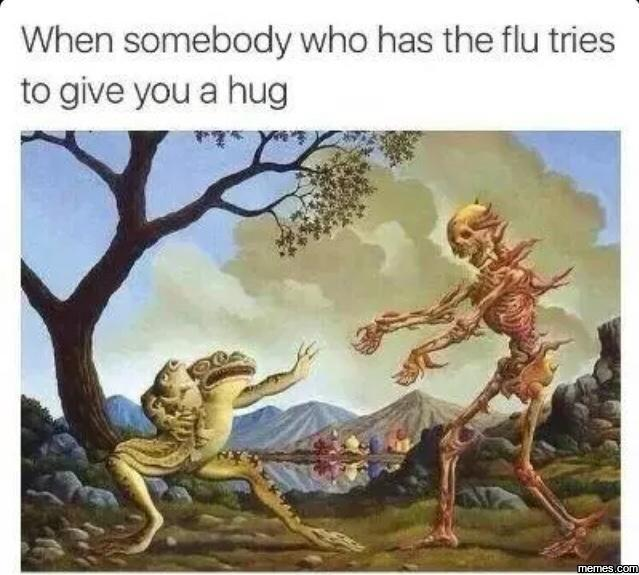 When somebody who has the flu tries…