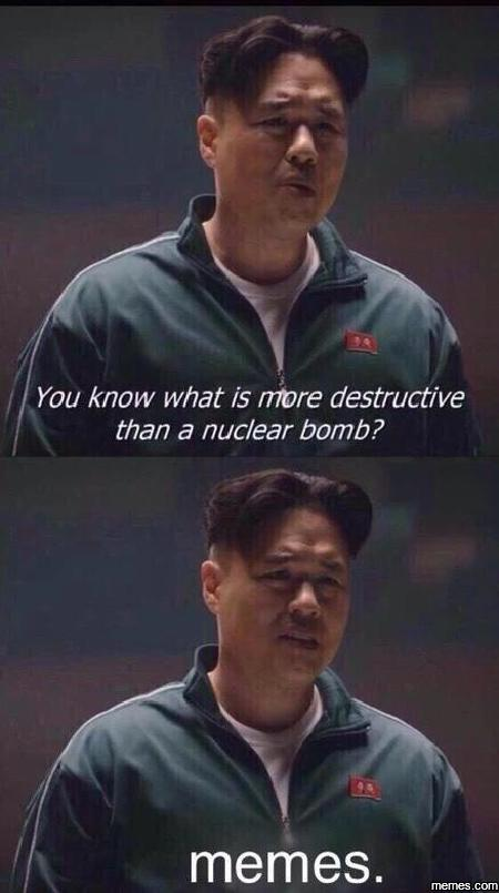 You know what is more destructive…
