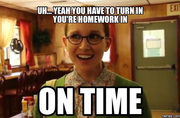 Re homework