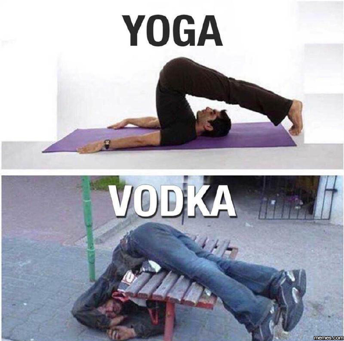 Yoga vs. vodka