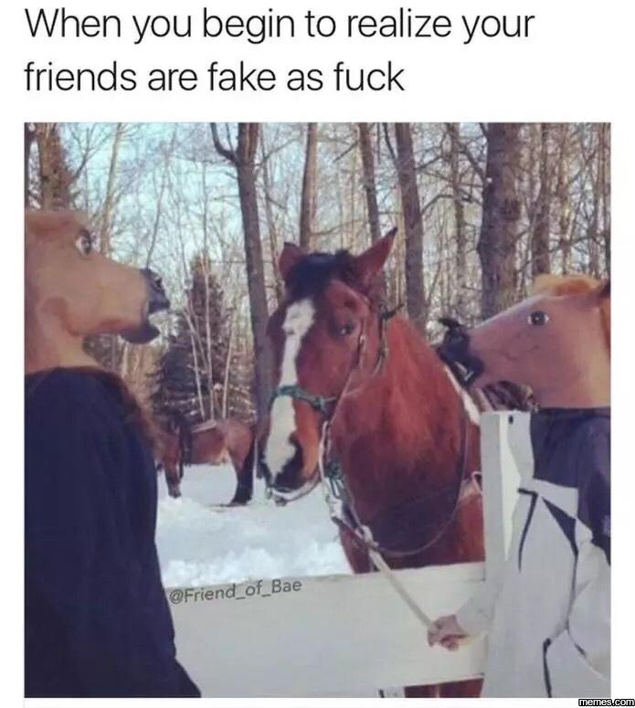 When you have fake friends