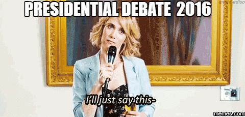 Image result for presidential debate 2016 memes