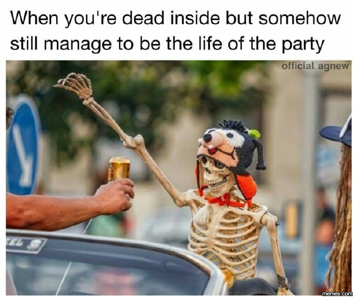 When you're dead inside