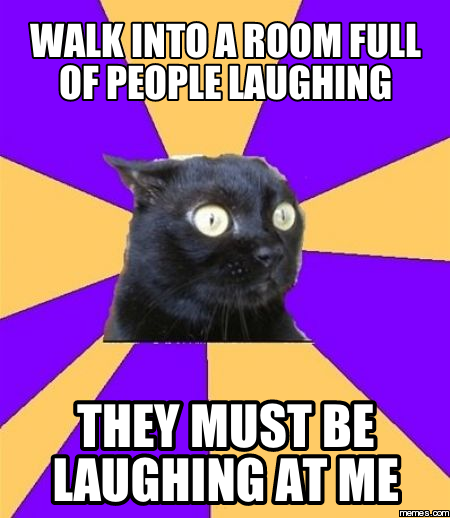 chronic anxiety cat meme - photo #15