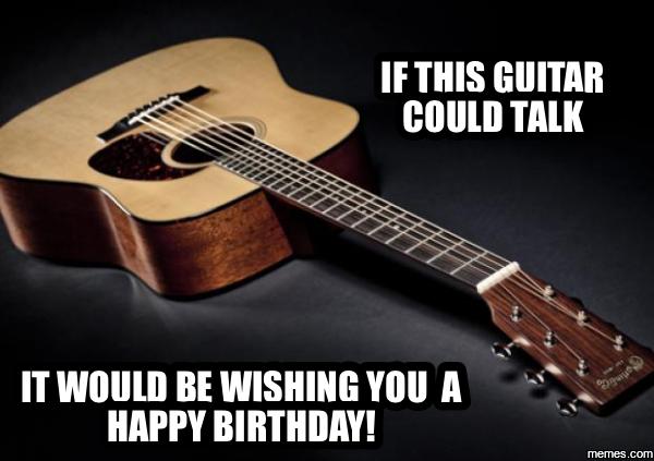Guitar Birthday Meme Premium Invitation Template Design Bliss