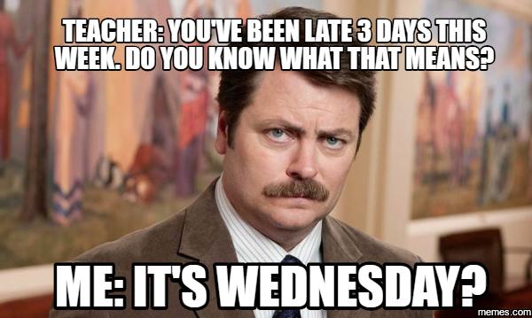 Image result for wednesday teacher meme