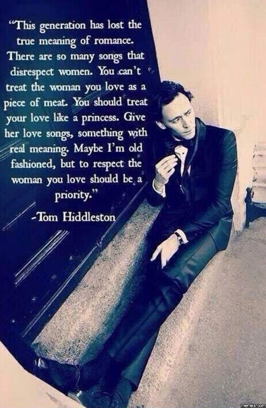 Tom Hiddleston romance quote