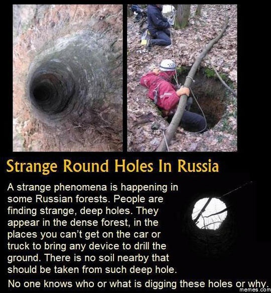 Endangered Earth  Russia  Mysterious Holes in the Ground
