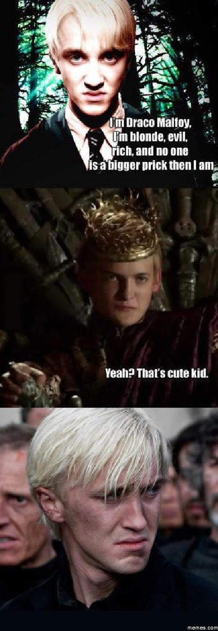Image result for draco malfoy memes