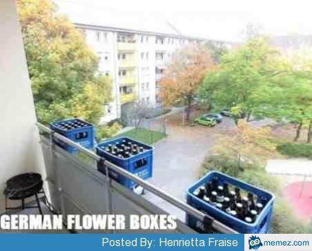 German flower boxes