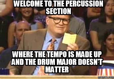 Percussion major?