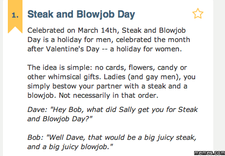 steak and a Fillets and Fellatio.