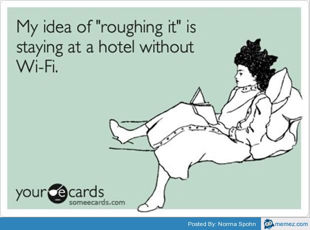 Image result for roughing it funny