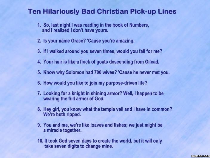 Christian pick up lines meme