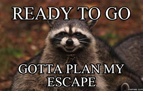 Image result for escape meme