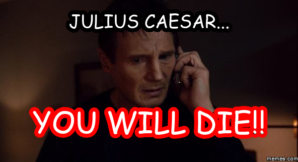 Liam Neeson's take on Julius  Caesar