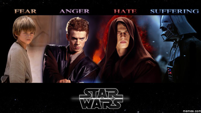 483810 fear leads to anger anger leads to hate hate leads to suffering,Fear Leads To Anger Meme