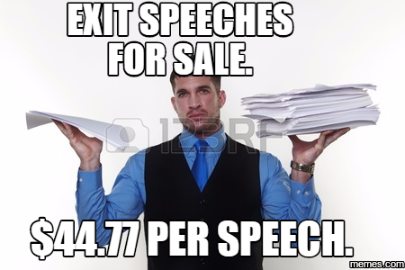 Speeches for sale