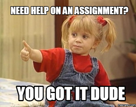 Assignment for you