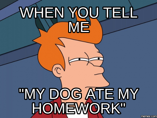 Obama the dog ate my homework – Thesis Pro