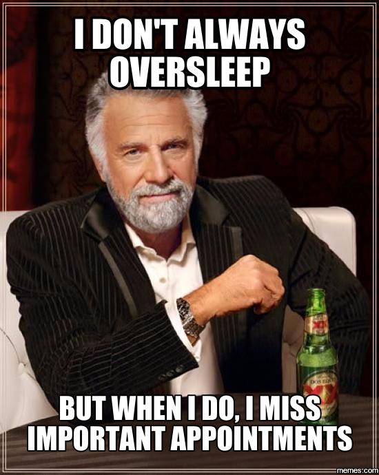 Image result for oversleep meme