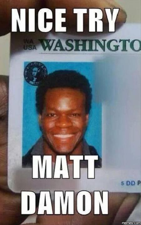 Nice try Matt Damon
