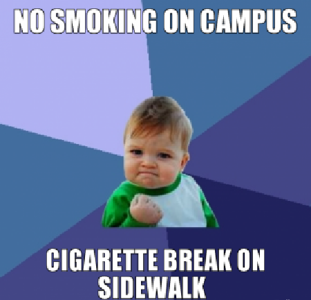 smoking on campus