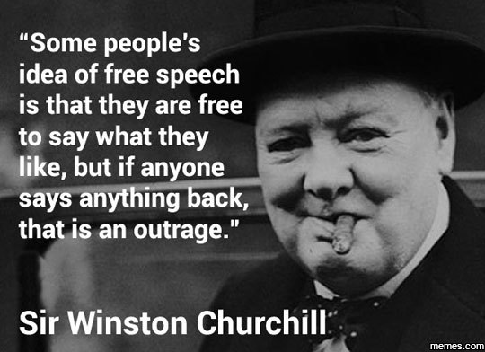 Image result for some people's idea of free speech