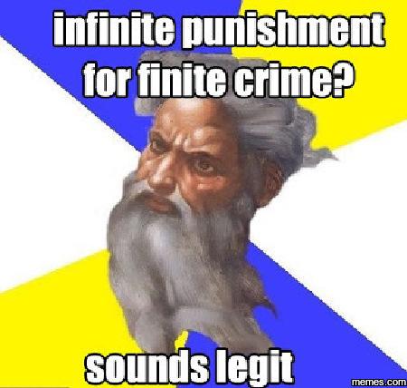 Infinite punishment for...
