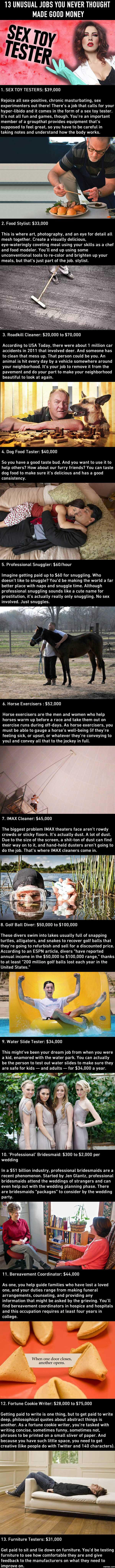 unusual jobs you never thought made good money com 13 unusual jobs you never thought made good money
