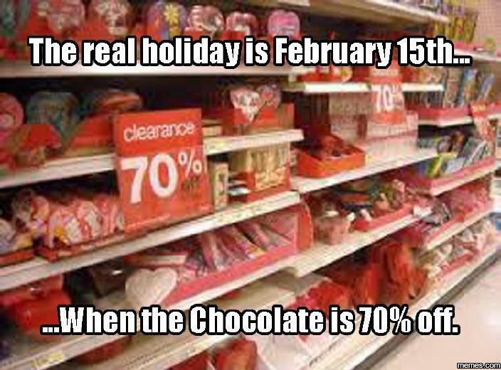 The real holiday is February 15