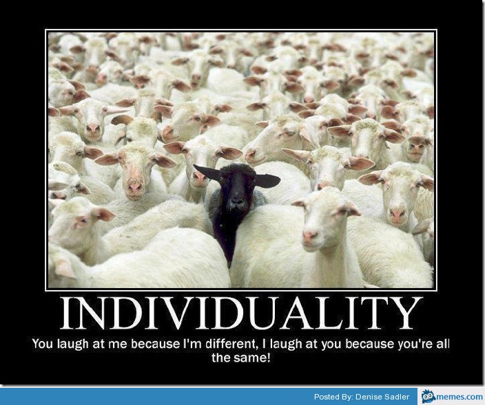 Image result for sheep individuality meme