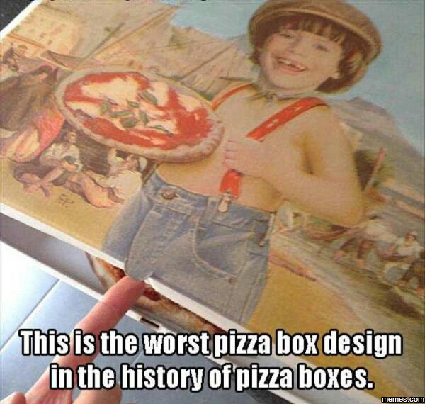 Worst pizza box design