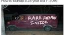 How to kidnap a 28 year old...