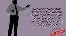 How men and women stalk