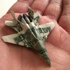 Jet Dollar bill origami