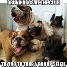 Drunk bros at the club...
