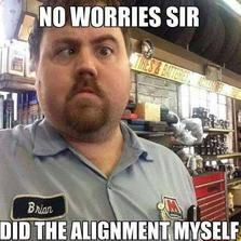 No worries sir did the allignment...