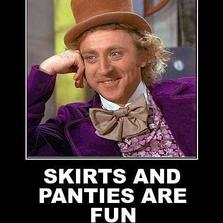 No panties are much better...