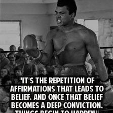 It's the repetition of affirmations that leads...