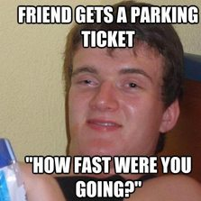 How fast were you going?