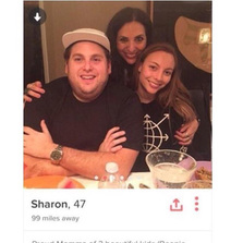 Found Jonah Hills mom on Tinder...