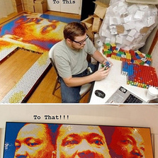 Using Only Rubik's Cubes