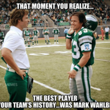 The best player in your team's history was Mark Wahlberg...