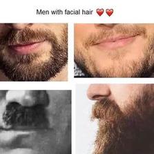 Men with facial hair...
