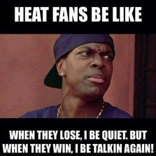 When they lose I be quiet...