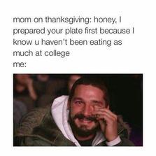 Mom on Thanksgiving...
